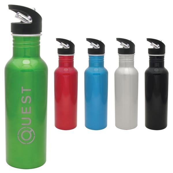 Aluminum Hiker Collection Water Bottle - Laser Etched