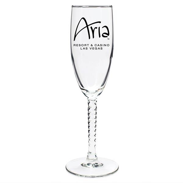 5.75 oz. ARC Twisted Stem Champagne Glasses