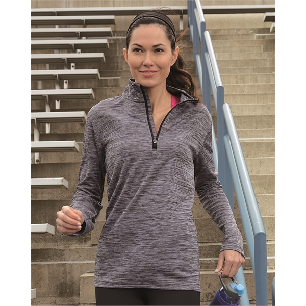 Russell Athletic Women's Striated Quarter-Zip Pullover