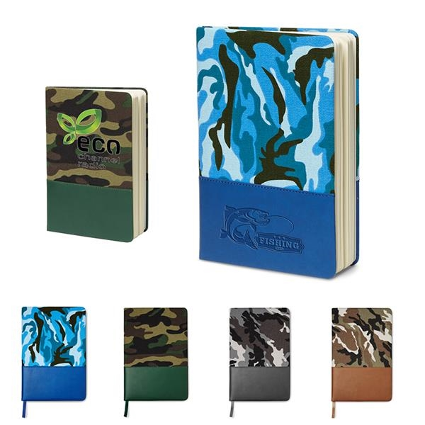 5x8 Hard Cover Camo Canvas Journal