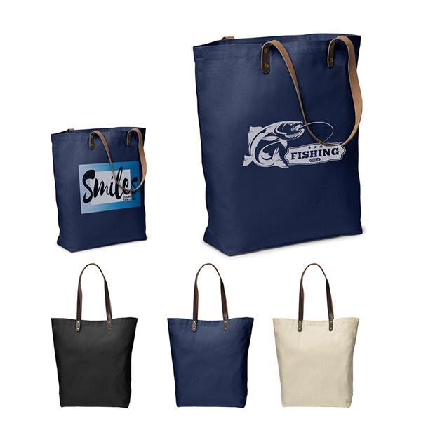 Urban Cotton Tote with PU Leather Handles