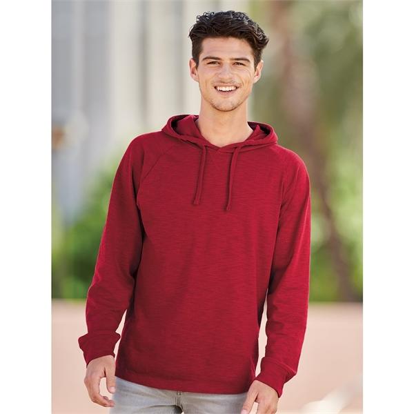 J. America Vintage Slub Knit Hooded Long Sleeve Pullover
