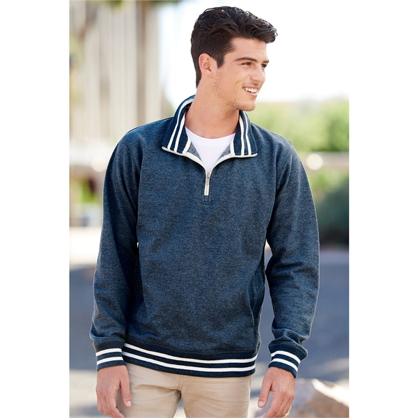 J. America Relay Fleece Quarter-Zip Sweatshirt