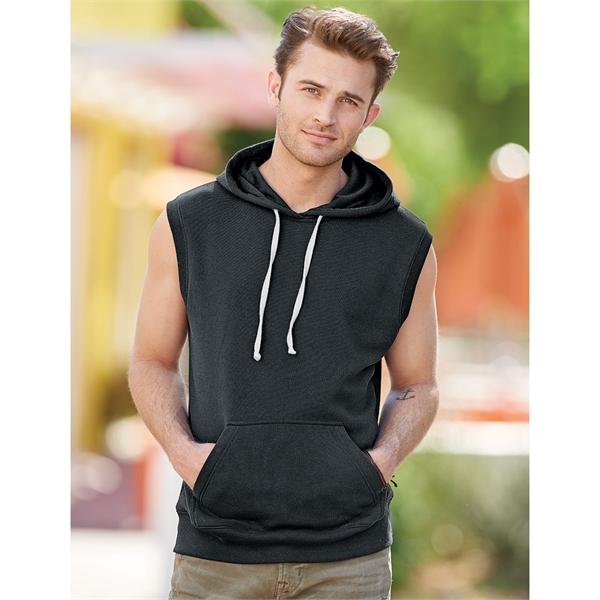 J. America Triblend Sleeveless Hooded Sweatshirt