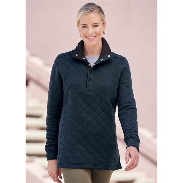 J. America Women's Quilted Snap Pullover