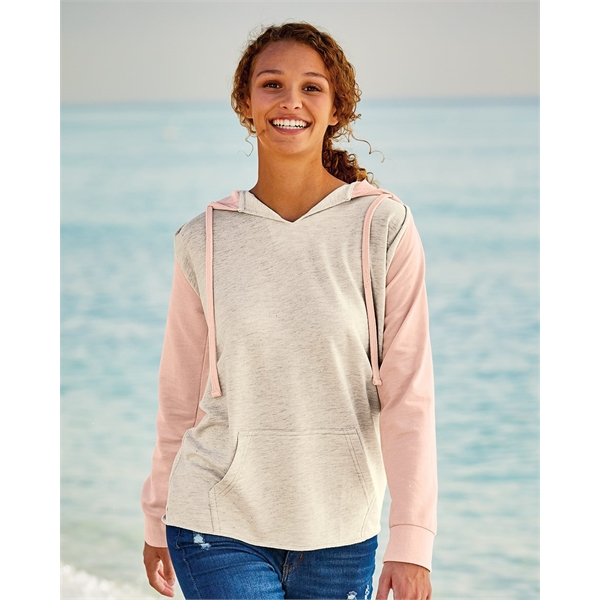 MV Sport Women's French Terry Hooded Pullover with Colorb...