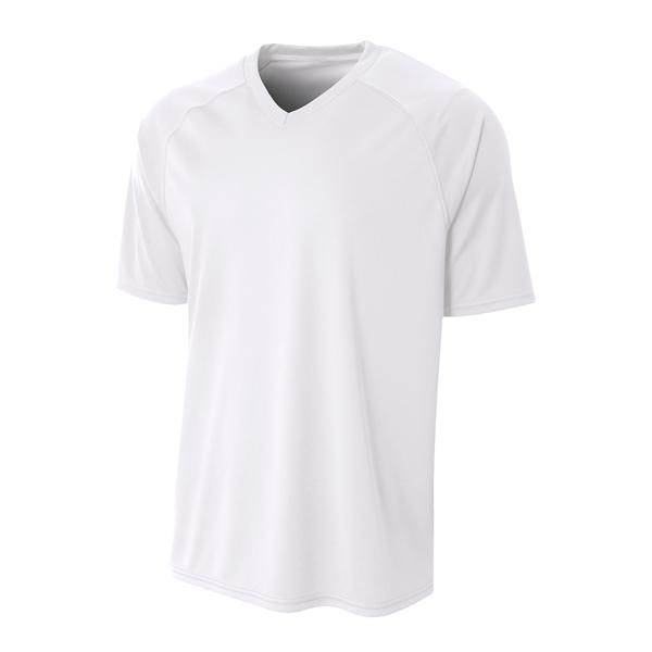 A4 Adult Polyester V-Neck Strike Jersey with Contrast Sleeve