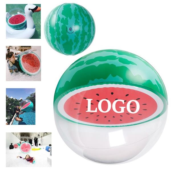 Translucent Watermelon Beach Ball