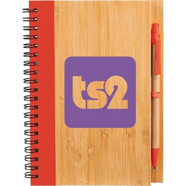 """5"""" x 7"""" Bamboo Notebook"""