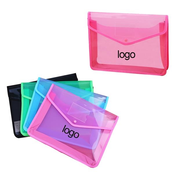Plastic Folders with Closure and Pockets