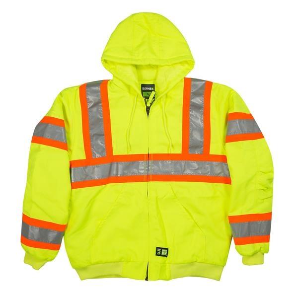 Berne Men's Hi-Vis Type R Class 3 Hooded Active Jacket
