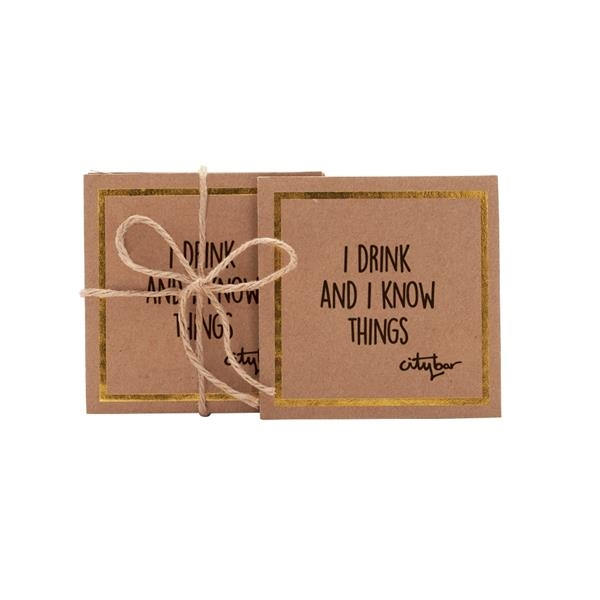 PATRON Corrugated Screen Printed Coasters (Set of 4)