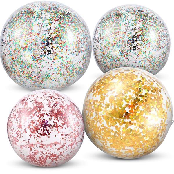 Sequin Pool Ball Inflatable Glitter Beach Balls