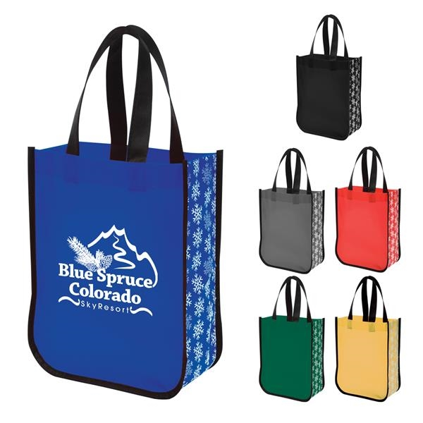 Snow Flurry Laminated Non-Woven Tote Bag