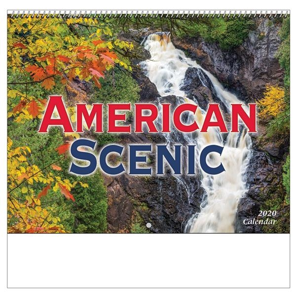 2020 American Scenic Wall Calendar - Spiral