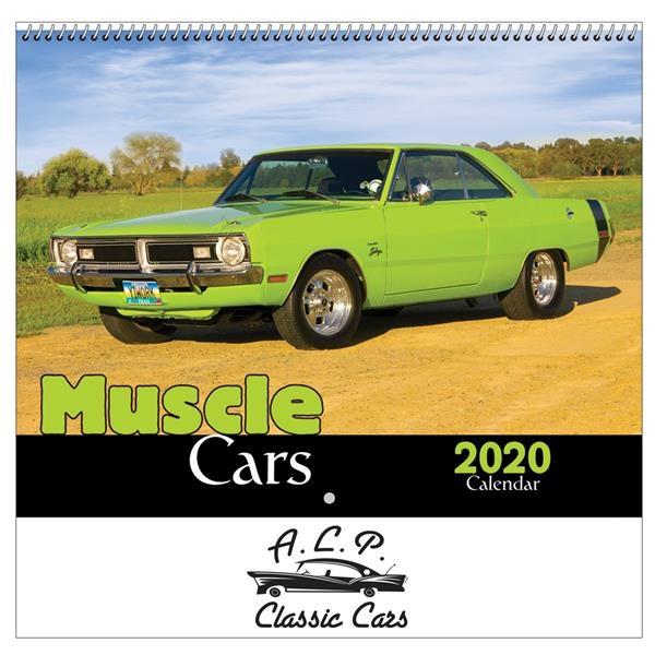 2020 Muscle Cars Wall Calendar - Spiral