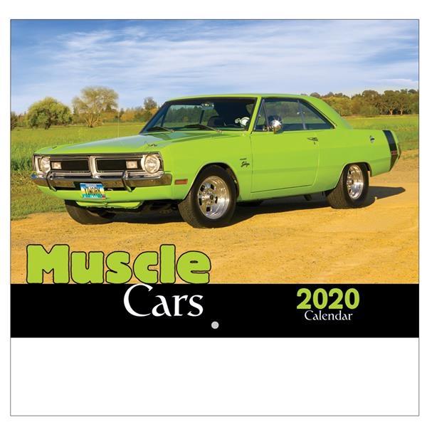 2020 Muscle Cars Wall Calendar - Stapled
