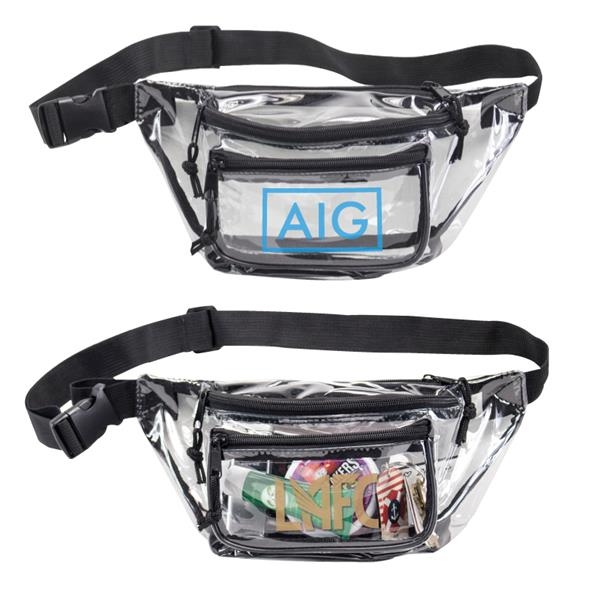 Clear Triple Zipper Fanny Pack