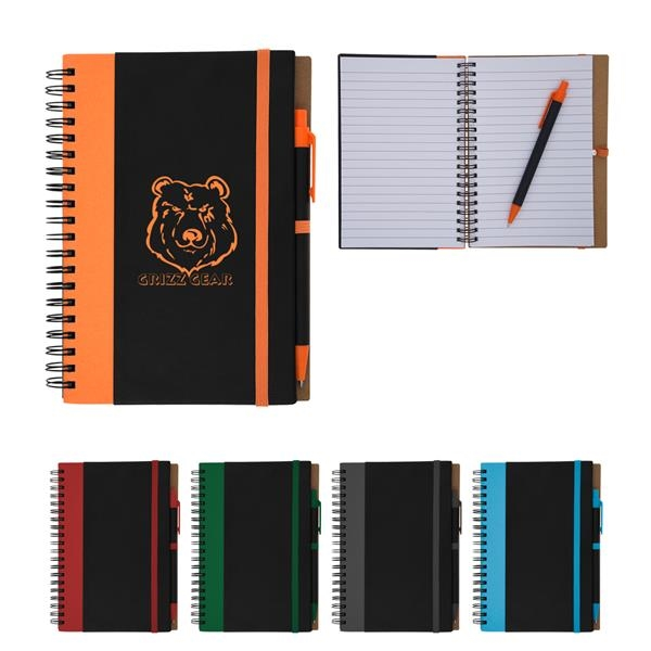 Color Underlay Spiral Notebook