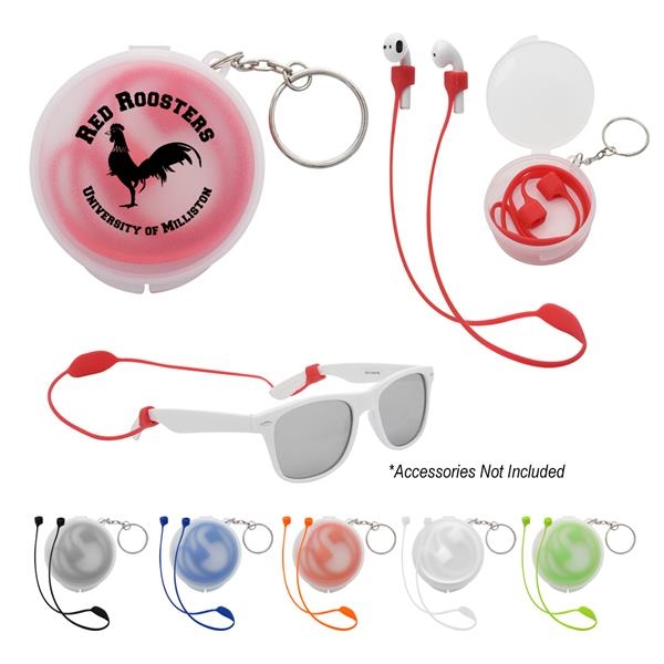 Secure Strap Ear Pod & Sunglass Holder