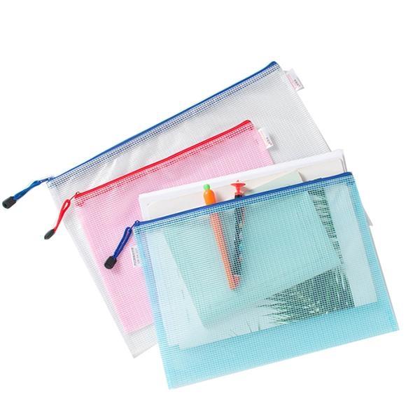 Transparent mesh file bag