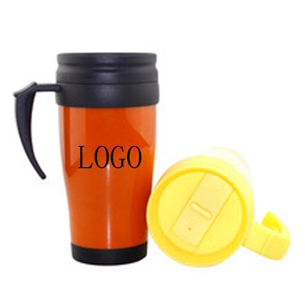 16oz Reusable Double Plastic Tea Cup Coffee Mug Travel MUg