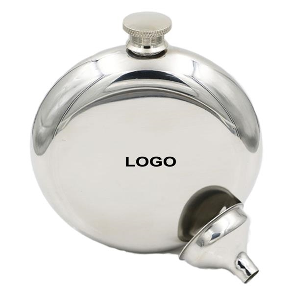 Stainless Steel Round Flasks with Funnel