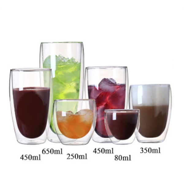 10oz 250ml Drinking Hollow Glass Tumbler Cup Bottle