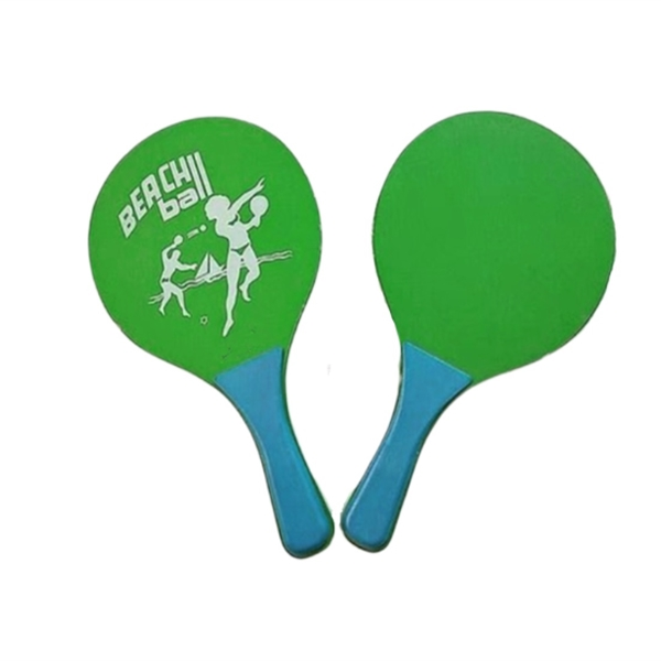 Wooden Beach Rackets Set Paddle Racket Tennis with Rubber