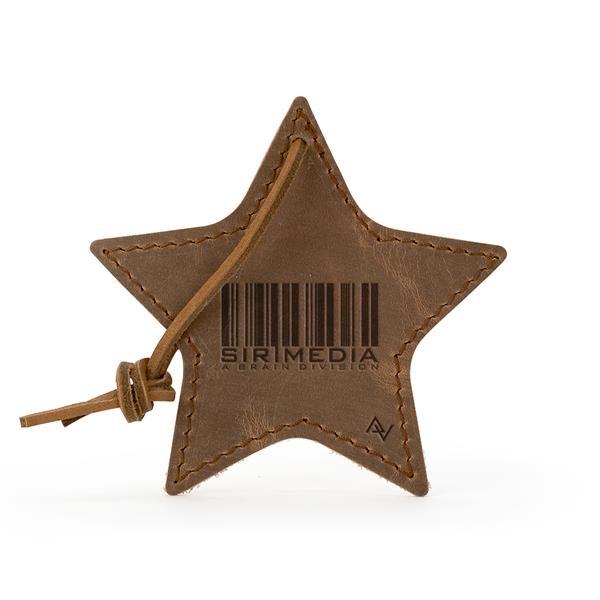 STELLA Leather Star Ornament