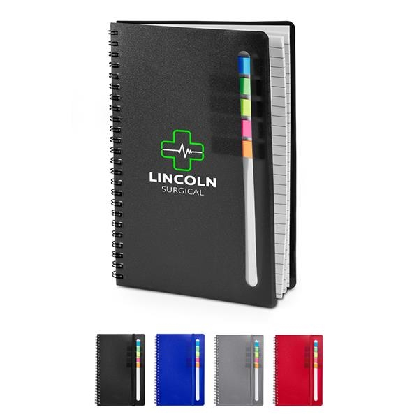 Semester Spiral Notebook with Sticky Flags