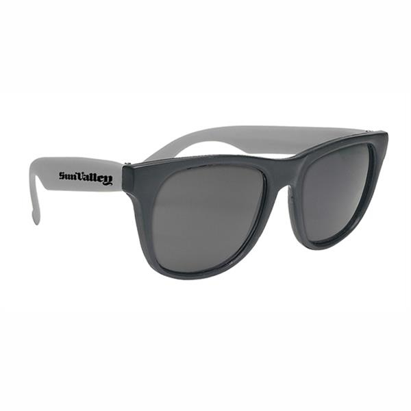 Sunglasses - Black framed sunglasses with UV400, UVA and UVB protection.