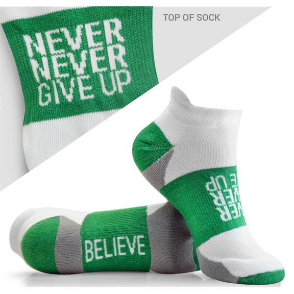 Woven Socks Never Never Give Up(Free Shipping)