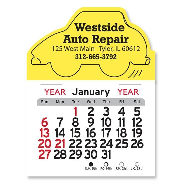Car Shaped Peel-N-Stick® Calendar