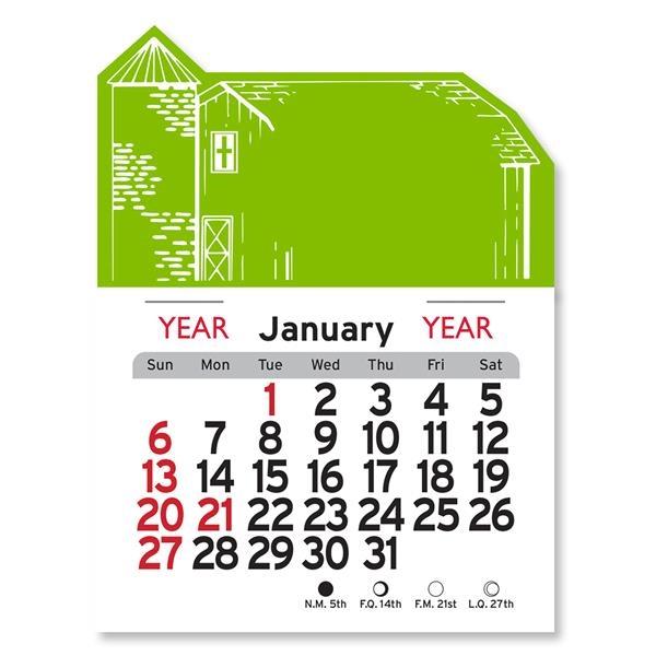 Barn Shaped Peel-N-Stick® Calendar