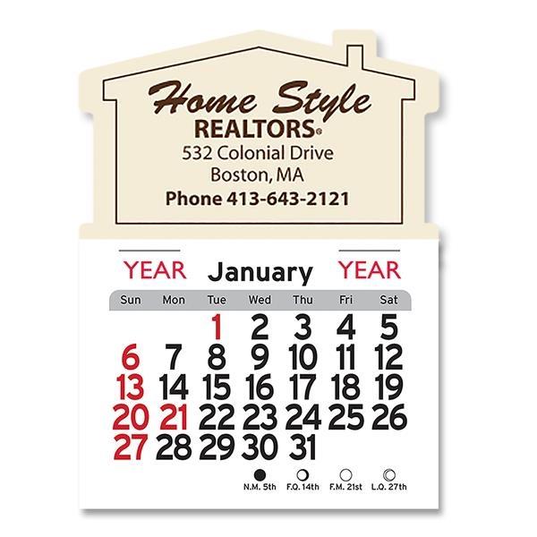 House Shaped Peel-N-Stick® Calendar