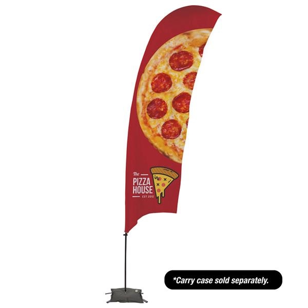 15' Value Razor Sail Sign - 2-Sided with Cross Base