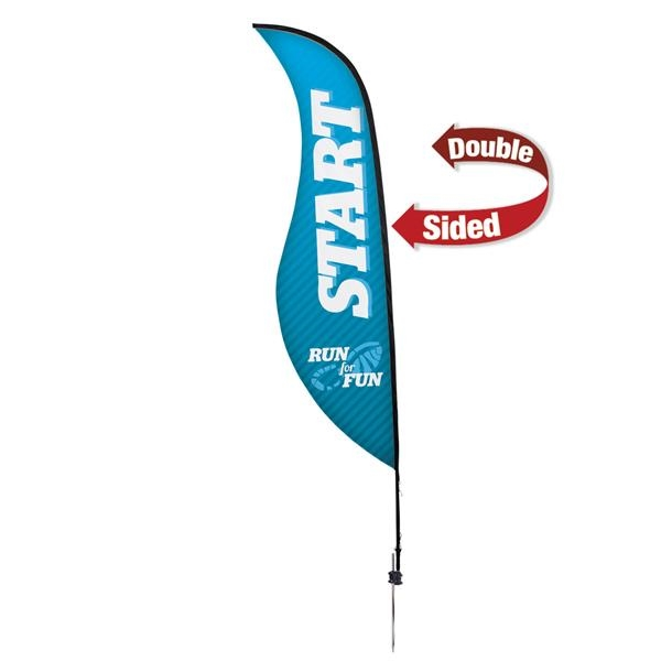 13' Premium Sabre Sail Sign, 2-Sided, Ground Spike