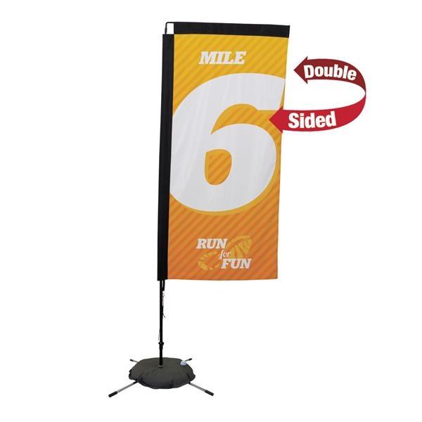 7' Premium Rectangle Sail Sign, 2-Sided, Scissor Base