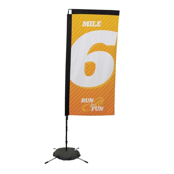 7' Premium Rectangle Sail Sign, 1-Sided, Scissor Base