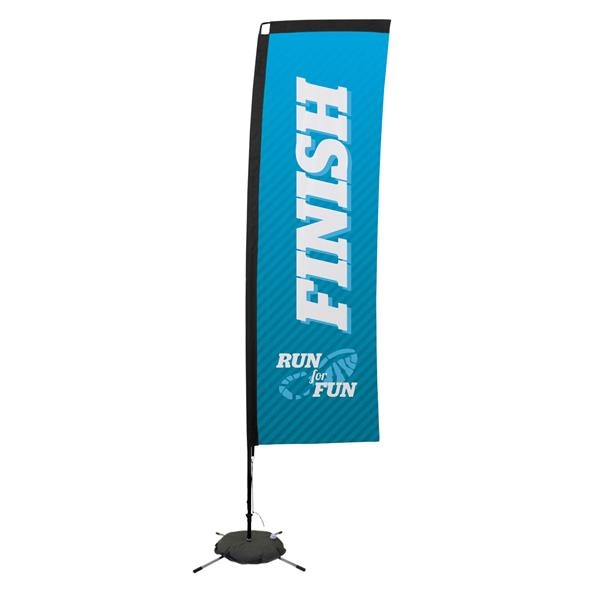 10' Premium Rectangle Sail Sign, 1-Sided, Scissor Base