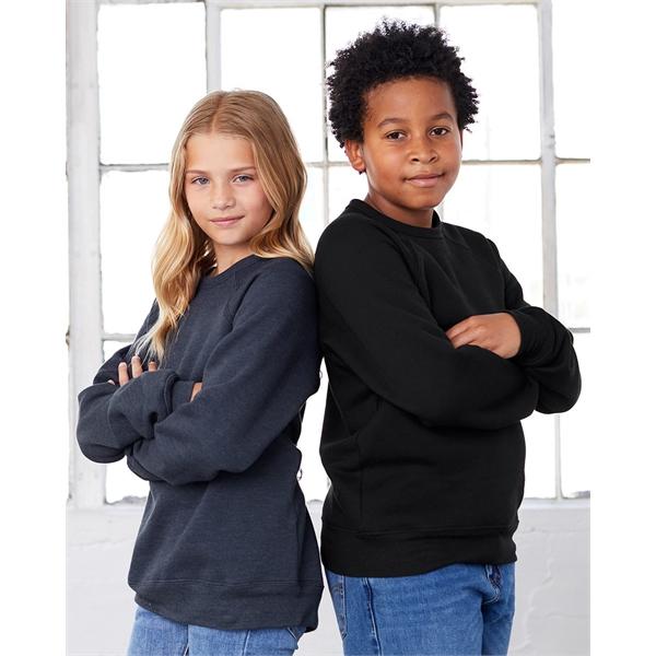 BELLA + CANVAS Youth Sponge Fleece Crewneck Sweatshirt