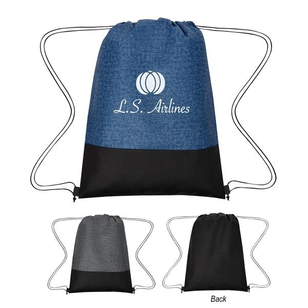 Denim Delight Non-Woven Drawstring Bag