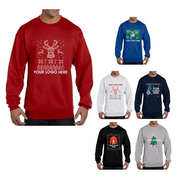 "Champion Double Dry Eco Crewneck ""Ugly Sweater"" Sweatshirt"