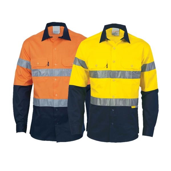 High Visibility Industrial Work Shirt (Long Sleeve, 4.5 oz)