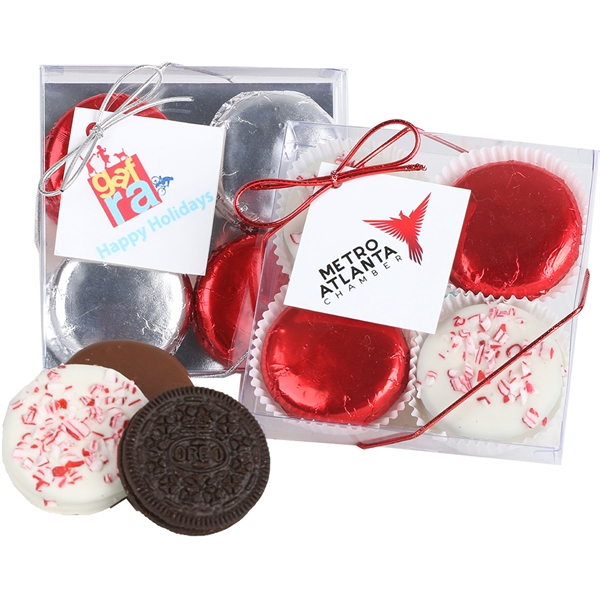 Holiday Milk Chocolate foiled Sandwich Cookies Box
