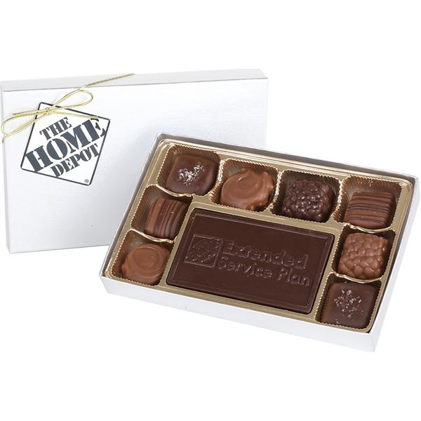 Custom Molded Bar with Assorted Chocolates