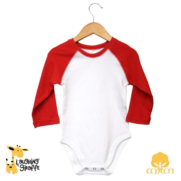 Baby Raglan Onesies Long Sleeves