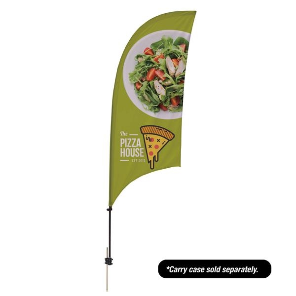 7.5' Value Razor Sail Sign - 2-Sided with Ground Spike