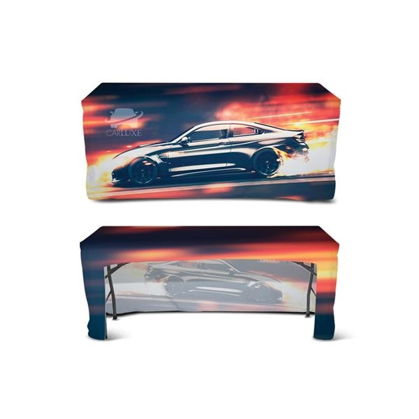 DisplaySplash 6' Fitted Open Back Table Cover
